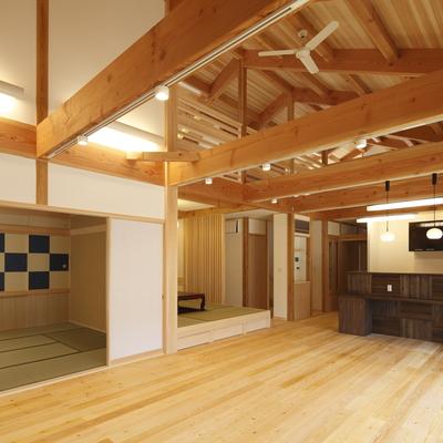 施工事例「天然無垢の家 木材の質感を大切にしたこだわりの内装」のサムネイル画像