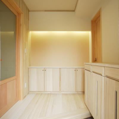 施工事例「*天然無垢の家*玄関を開けると木の匂いに包まれます」のサムネイル画像